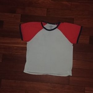 American Eagle short sleeve baseball tee AE AEO